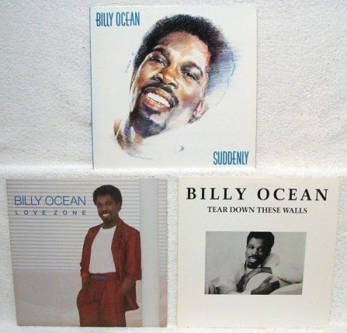 BILLY OCEAN ~ Lot of ( 3 ) R&B / Soul / Funk LPs