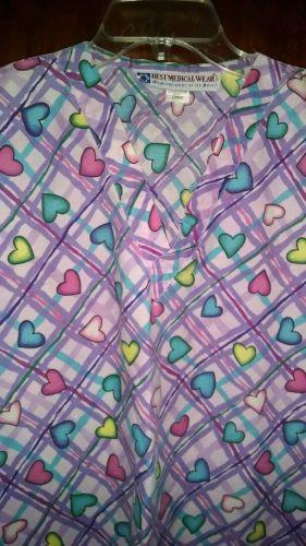 Women's Purple Heart Scrub Top