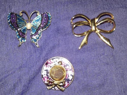 3 Piece Lot of Coat or Hat Pins