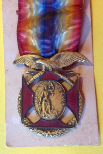 Military Order of the World War Medal-World War I Medal with Bar