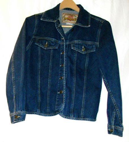 EUC women's, sz.S, THE TERRITORY AHEAD, blue, denim, button down, jacket