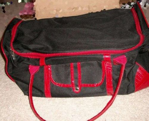 Black Carry on, gym bag style