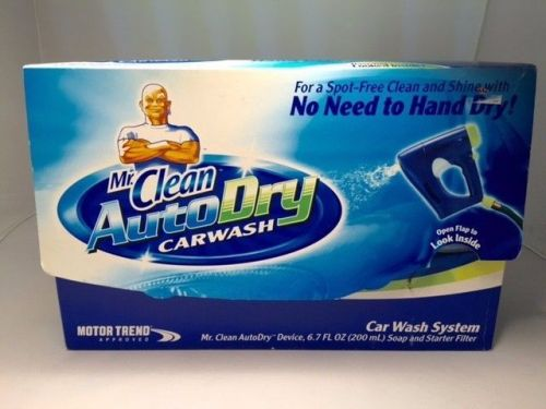 New Mr.Clean AutoDry Car Wash System Soap & Starter Filter Kit RV Truck SUV Bike