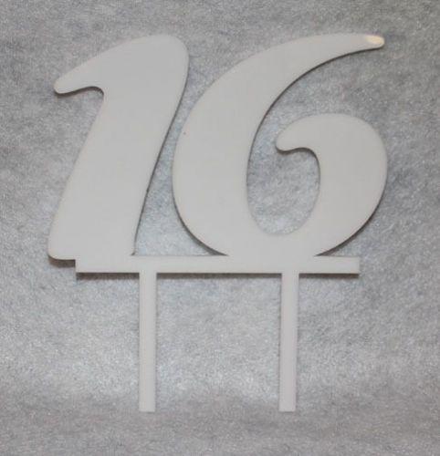 "Birthday Cake Toppers - 1/8"" Acrylic -"