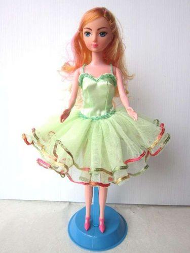 GREEN BALLERINA BALLET TUTU HANDMADE COSTUMES FOR BARBIE, DOLLS DRESS UP CLOTHES