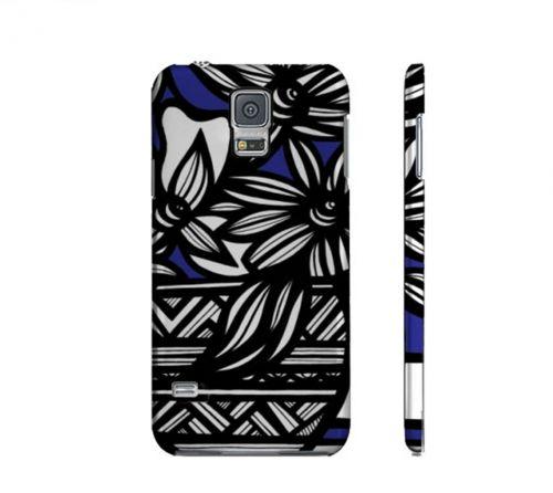 Drakulic Blue Whit Flowers Samsung Galaxy S5 Phone Case