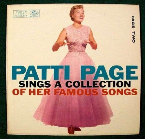 PATTI PAGE ~ Sings A Collection of HER FAMOUS SONGS / Page Two 1955 Pop LP