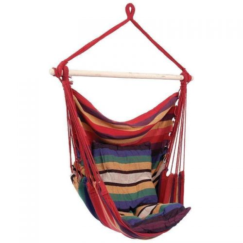 NEW Club Fun Hanging Chair Rope Style Patio Outdoor Indoor Hammock Swing
