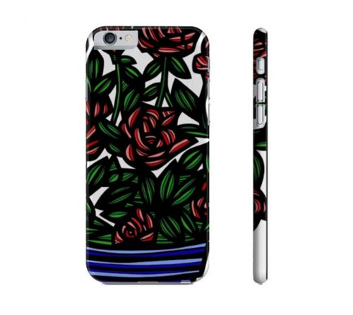 Devilla Red Blue Flowers Floral Botanical Iphone 6 Phone Case