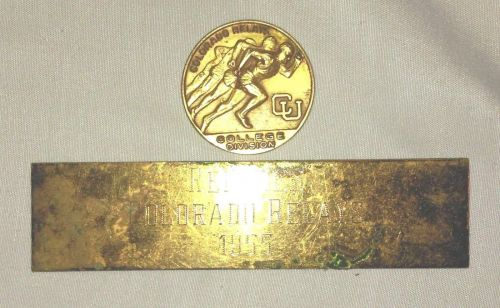 1955 CU Colorado Relays Medallion and Referee Trophy FacePlate