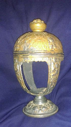 Antique P.N.C.W. Brass/Bronze Plated Pewter Chalice