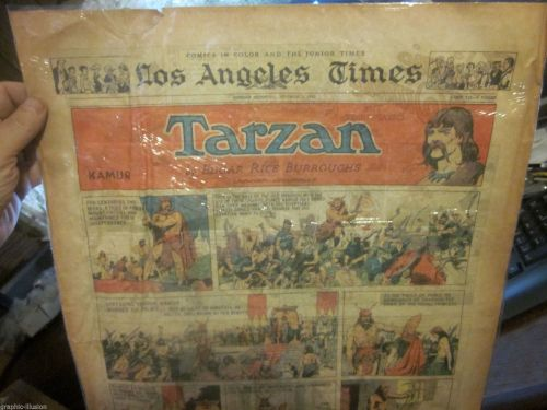 Sun. Funnies Newspaper Strip: TARZAN by ERB, HAL FOSTER art Oct. 1, 1933