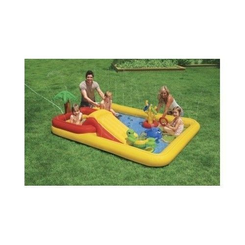 kiddie Pool,TWO POOLS IN ONE,SLIDE, WATER PLAY FOR ALL AGES,STURDY,NEW