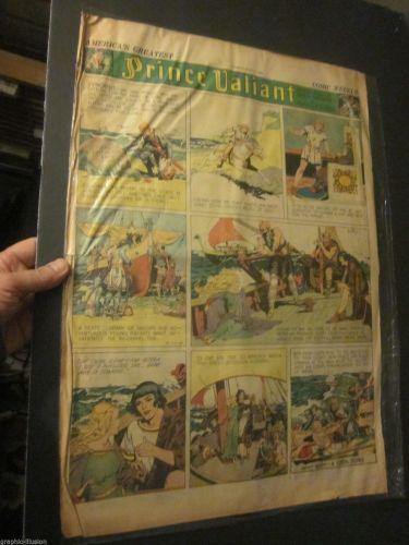 PRINCE VALIANT Original 1st print Sun. Newspaper Strip Hal Foster July 17, 1938