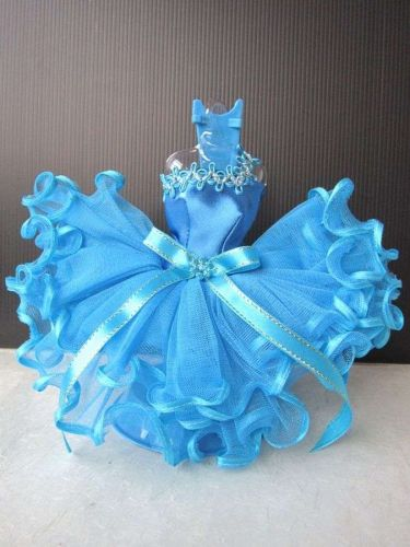 BLUE BALLERINA BALLET OUTFIT HANDMADE TUTU DRESS UP COSTUME FOR BARBIE DOLLS 12""