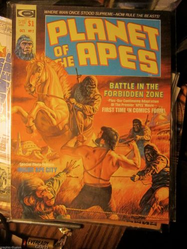 Planet of the Ape Magazine #2 Marvel/Curtis 1974 tight 1st print and series FINE