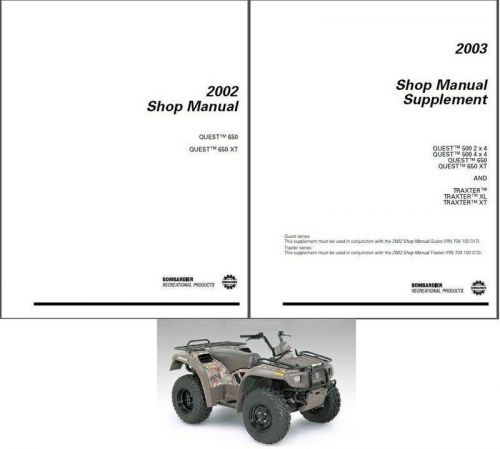 2002-2003 Can-Am Quest 650 500 XT / Traxter Service Repair Manual CD BRP Bombardier