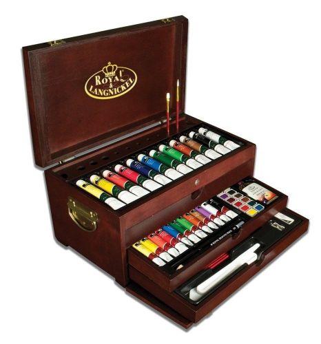 Deluxe Art Set 80 Piece Painting Chest Art Supplies Artist Case Kit Paint Set