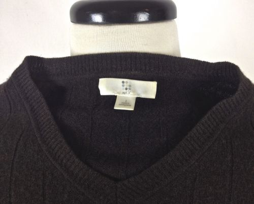 Apt 9 Cashmere Sweater XL Mens Brown Long Sleeve