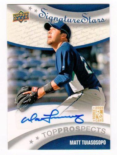 MLB 2009 Upper Deck Matt Tuiasosopo AUTO RC MNT