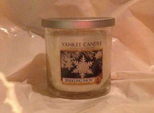 Yankee Candle 'Sparkling Snow' Discontinued Holiday Fragrance 7oz Tumbler
