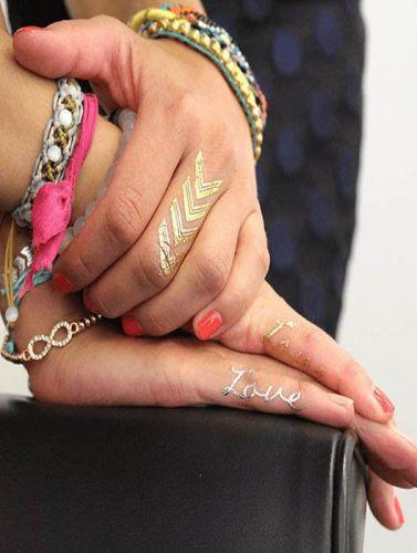 Love & Symbol Metallic temp tattoo, henna tattoo,Flash Tattoos Jewelry