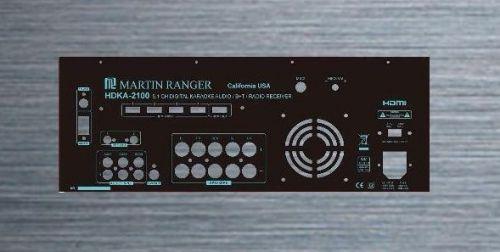 Martin Ranger 5.1 Channel 420W Built-in AM/FM HDMI Karaoke Reciever -Mixer