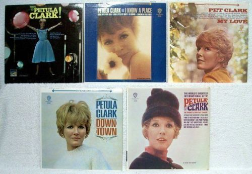PETULA CLARK ~ Lot of ( 5 ) 60'S Pop LPs