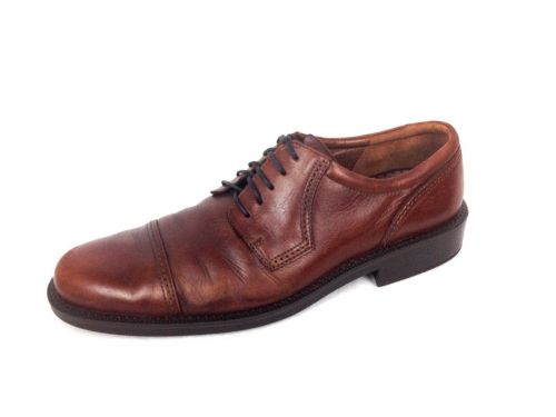 Ecco Shoes Mens 46 12 Brown Leather Oxfords