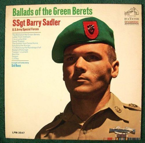 SSGT. BARRY SADLER ~ Ballads Of The Green Berets 1966 LP