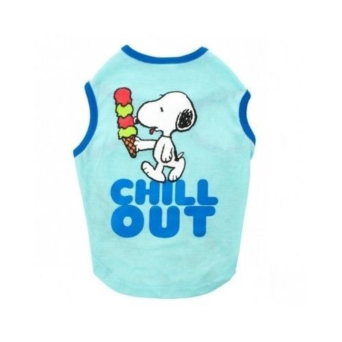 Doggie Tank top T- Shirt New Snoppy Chill Out Shirt Cool Relaxing