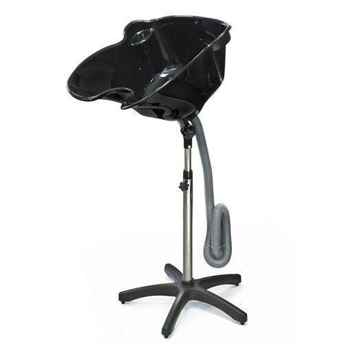Portable Shampoo Basin Height Adjustable Hair Treatment Bowl Black Salon Tool