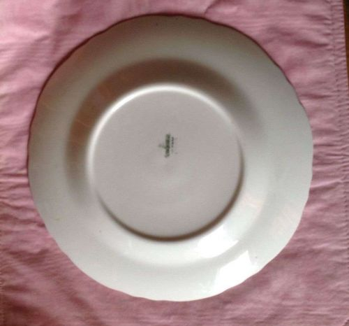 Vintage Dinner Plate Homer Laughlin Heavy Gold & Roses