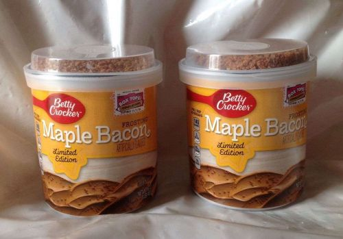 Betty Crocker Maple Bacon Limited Edition Frosting- Lot of 2- Exp Nov 2015