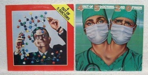 4 OUT OF 5 DOCTORS ~ Lot of ( 2 ) Power Pop / Rock LPs