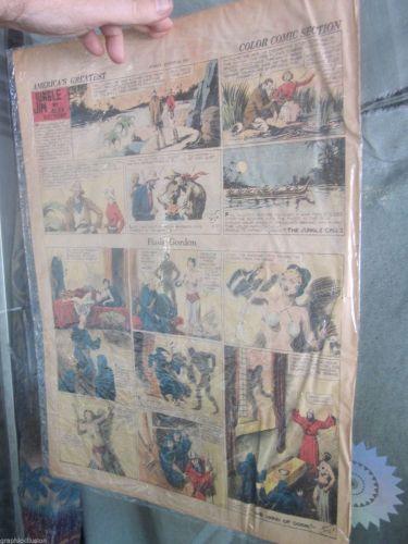 FLASH GORDON August 25, 1935 Sun. Newspaper Strip Alex Raymond JUNGLE JIM