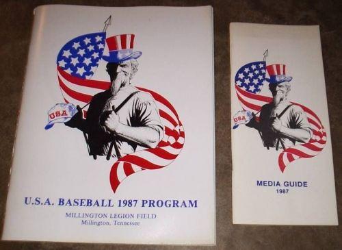 Rare 1987 USA Pan Am Program and Media Guide Frank Thomas Tino Martinez