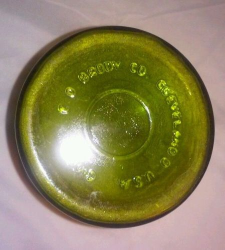 EUC, E O BRODY CO. green glass vase