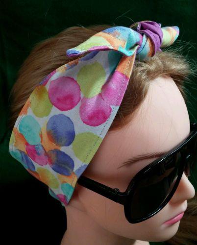 Headband hair wraptie bandanna Hippie Boho 100% Cotton hand made