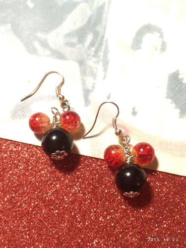 Disney Mickey Mouse Hand Beaded Earrings