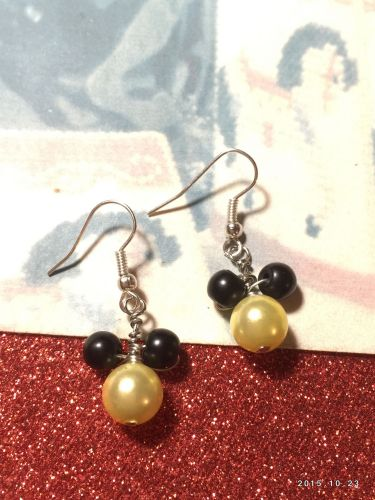 Disney Mickey Mouse Hand Beaded Girls Earrings