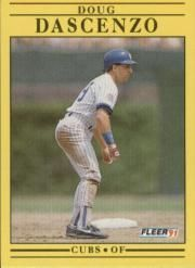 1991 Fleer #418 Doug Dascenzo