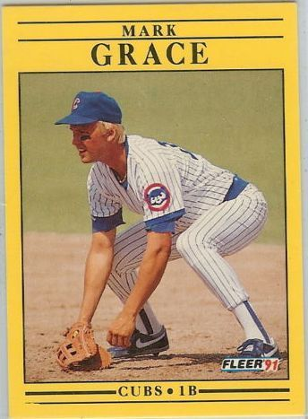 1991 Fleer #422 Mark Grace