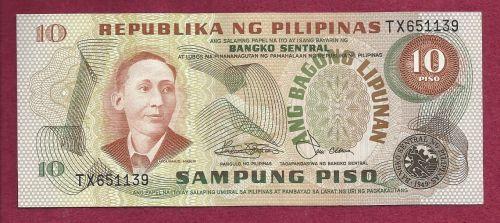 Philippines 10 Sampung Piso 1949 Banknote #TX651139
