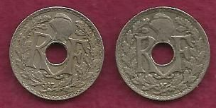 SPECIAL: Two France 5 Centimes French Coins 1930 & 1936 - TWO COINS !!!
