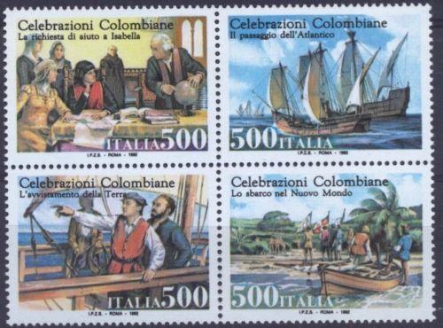 ITALY Celebrazioni Colombiane MNH sheet stamps