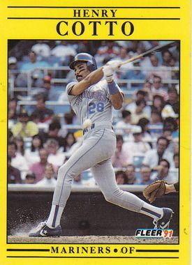 1991 Fleer #448 Henry Cotto