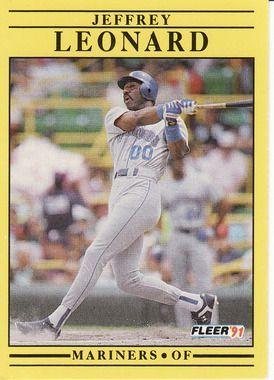 1991 Fleer #456 Jeffrey Leonard