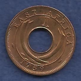 East Africa 1 Cent 1959 Coin - Unique Rare Coin over 50 years old!!