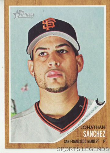 2011 Heritage #71 Jonathan Sanchez